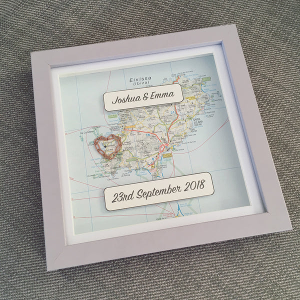 Love Stitched Personalised Mapwork