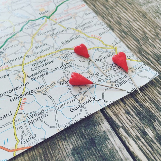 Set of 6 Map Pins