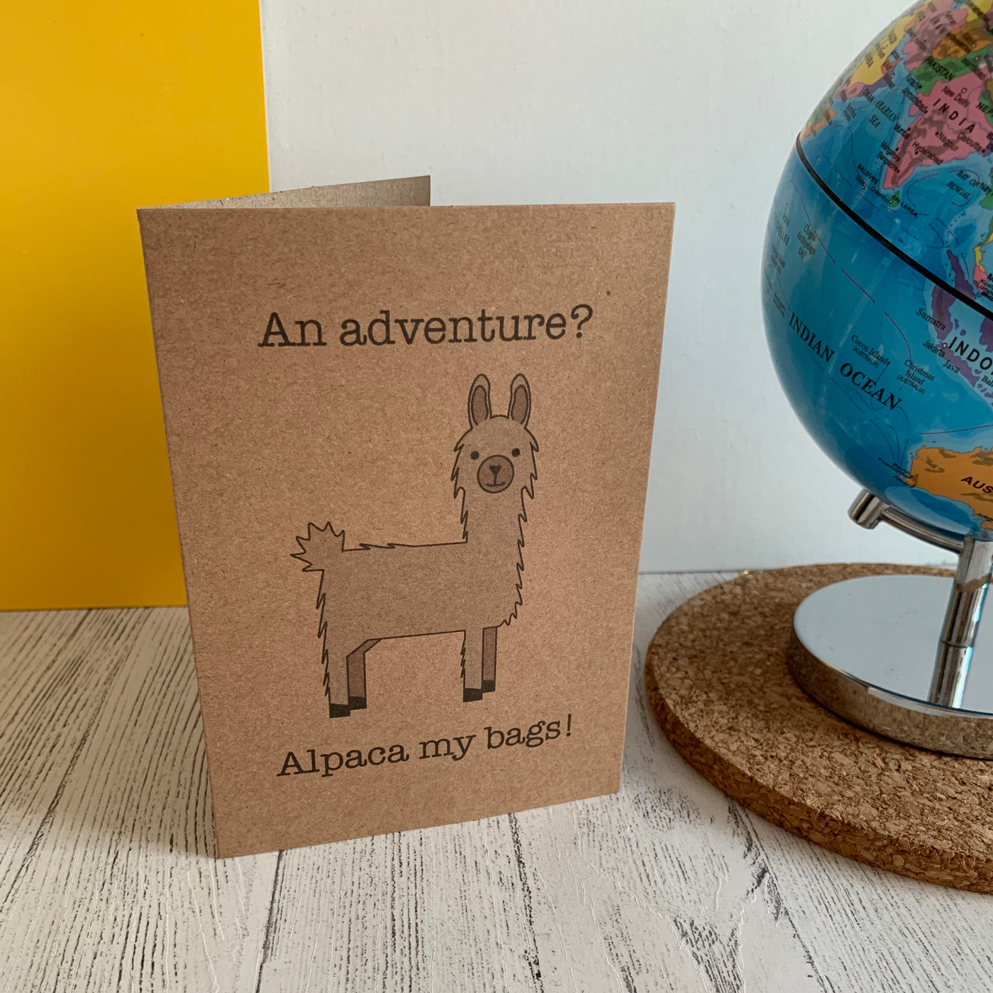 Adventure Alpaca Greetings Card