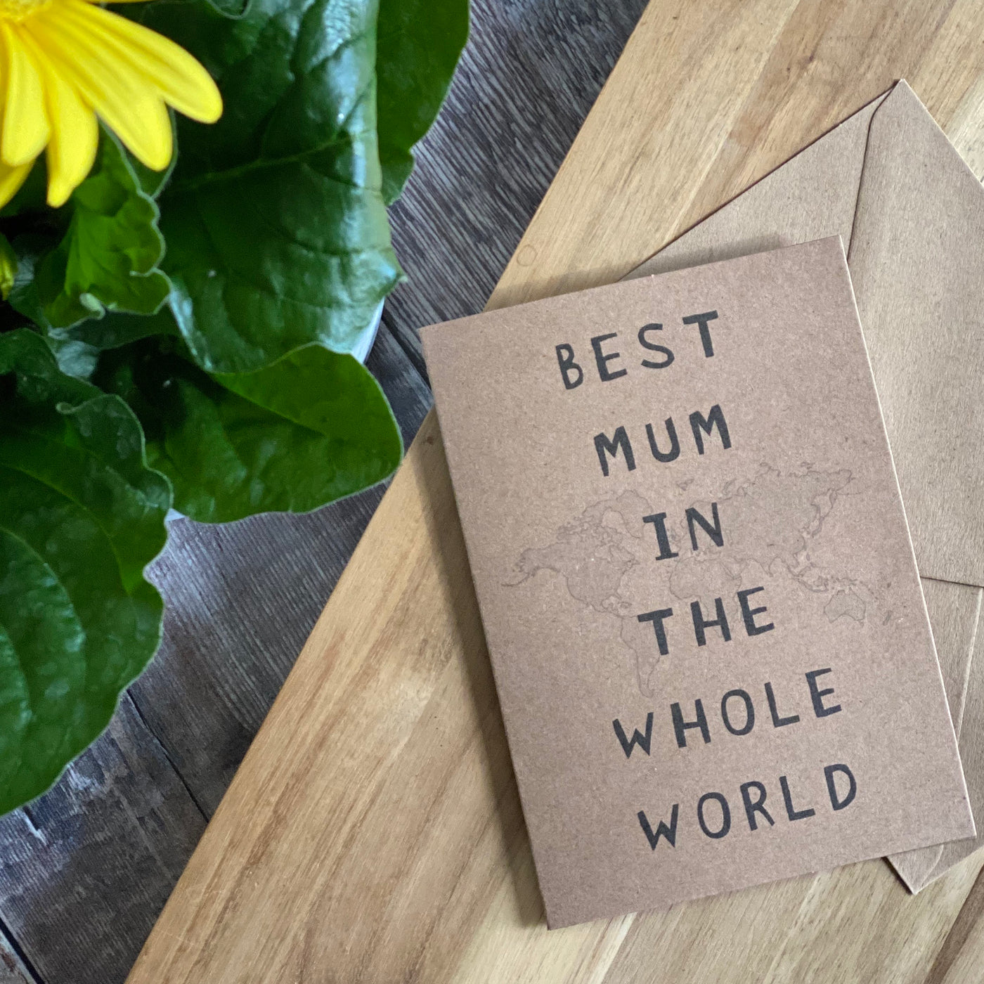 Best Mum in The Whole World Greetings Card