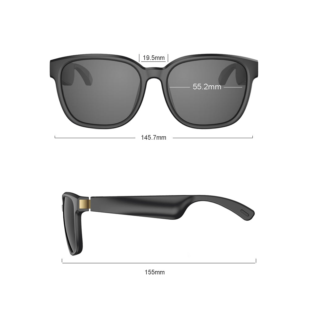 2020 Upgraded VOCALSKULL Audio Sunglasses Music Stereo Wireless Bluetooth 5.0 Headphone QCC3034 aptX-HD Wireless Bluetooth 5.0 Headsets with Built Mic Fast Charging Waterproof Sweat Proof