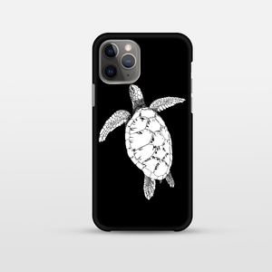 iPhone Black Soft Silicone Turtle Phone Case