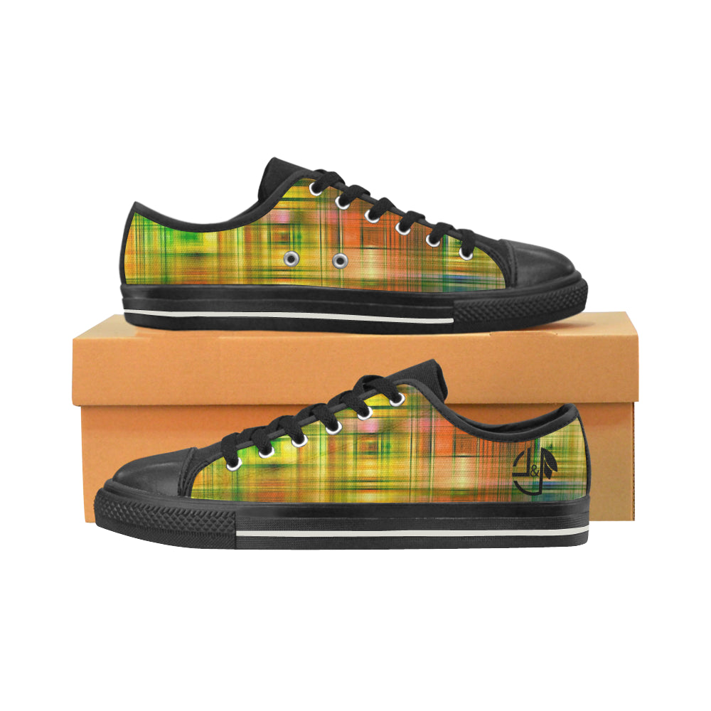 L&L Sneakers Woman Low Madras Women's Classic Canvas Shoes (Model 018) - L&L since 2007