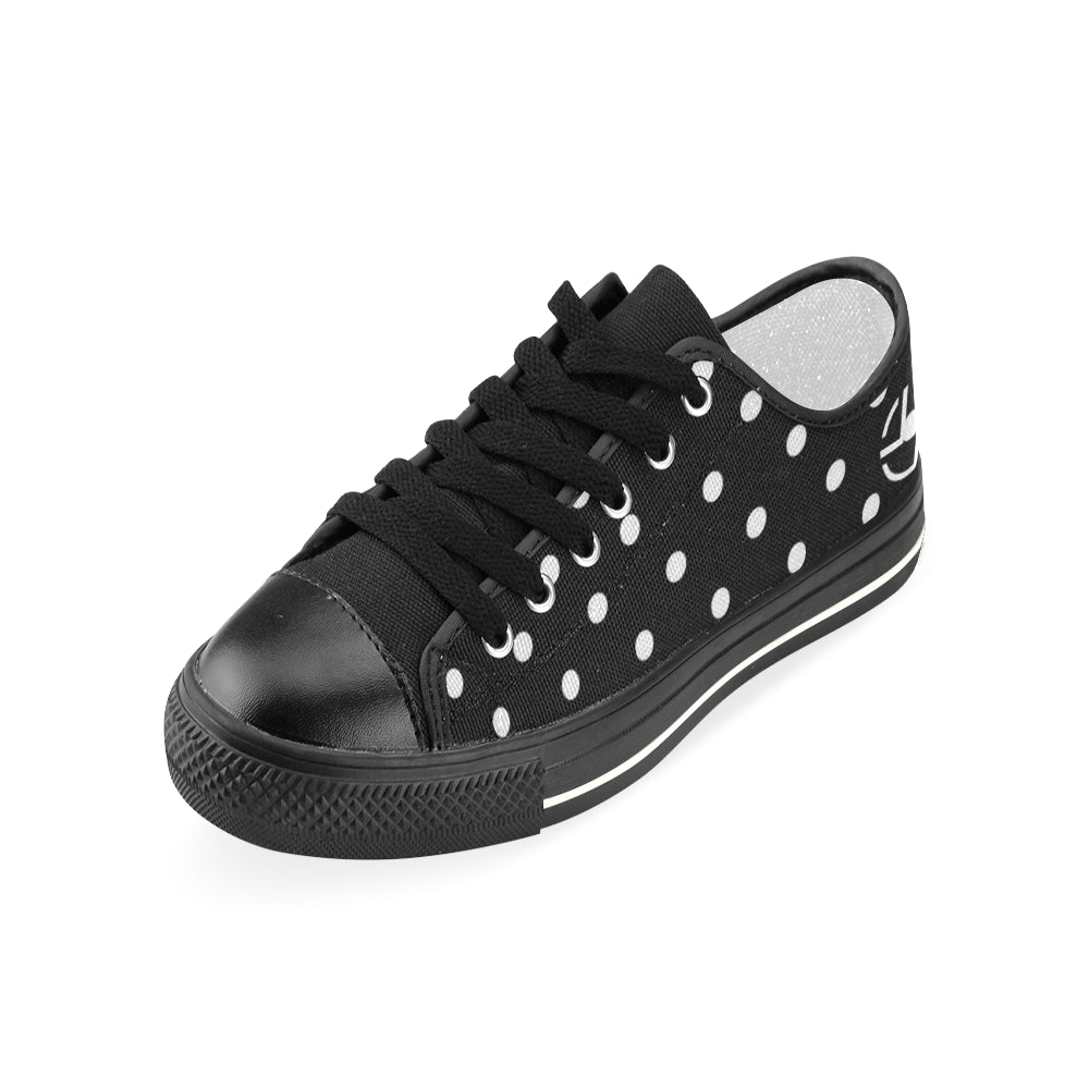 L&L Sneakers Woman Low BkWhdots Women's Classic Canvas Shoes (Model 018) - L&L since 2007