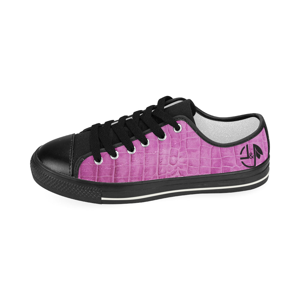 L&L Sneakers Pink Woman Women's Classic Canvas Shoes (Model 018) - L&L since 2007