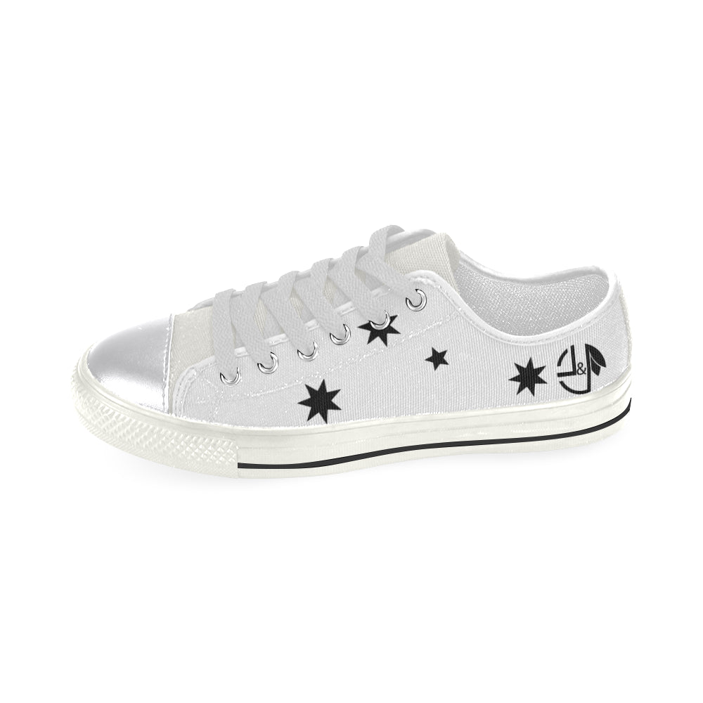 L&L Sneakers Woman Low Blackstars Women's Classic Canvas Shoes (Model 018) - L&L since 2007