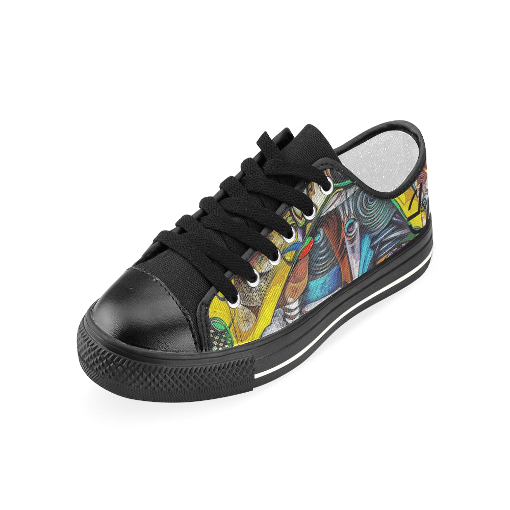 L&L Sneakers Woman Low Draweye Women's Classic Canvas Shoes (Model 018) - L&L since 2007