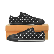 Load image into Gallery viewer, L&L Sneakers Woman Low BkWhdots Women's Classic Canvas Shoes (Model 018) - L&L since 2007