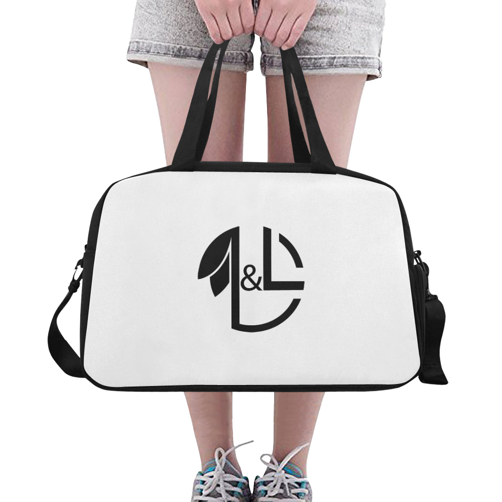 LNL Gymbag WhBk Logo1 Fitness Handbag (Model 1671) - L&L since 2007