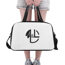 Load image into Gallery viewer, LNL Gymbag WhBk Logo1 Fitness Handbag (Model 1671) - L&L since 2007