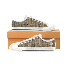 Charger l'image dans la galerie, L&L Sneakers Man Low Hessian Wh Men's Classic Canvas Shoes (Model 018) - L&L since 2007
