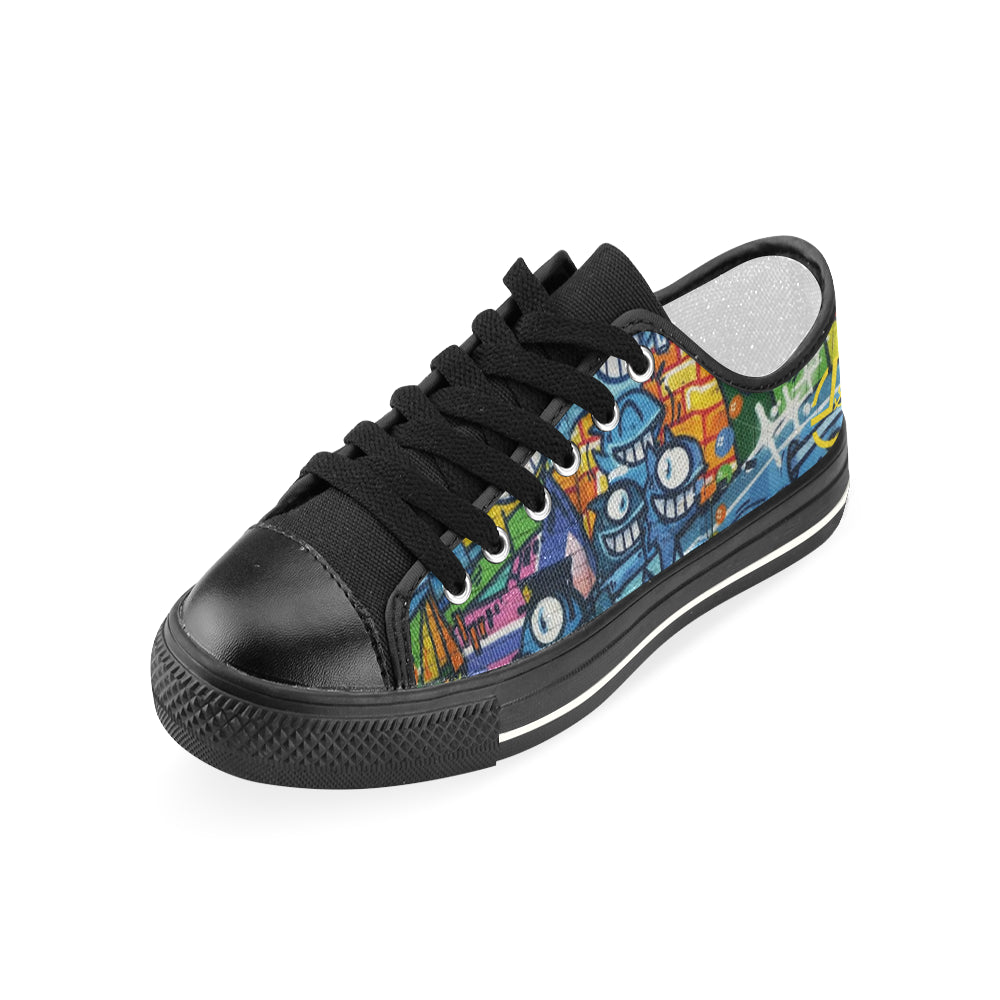 L&L Sneakers Woman Low Paintedgraf Women's Classic Canvas Shoes (Model 018) - L&L since 2007