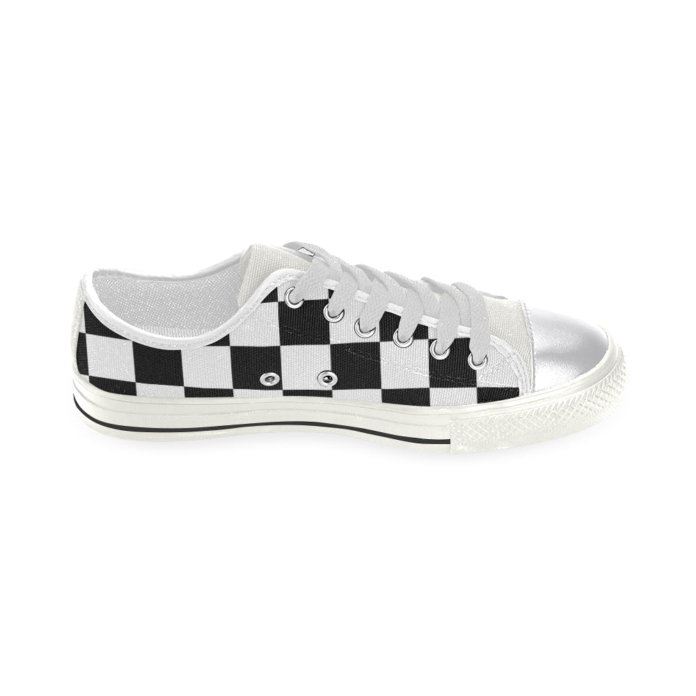 L&L Sneakers Damiers Woman1 Women's Classic Canvas Shoes (Model 018) - L&L since 2007