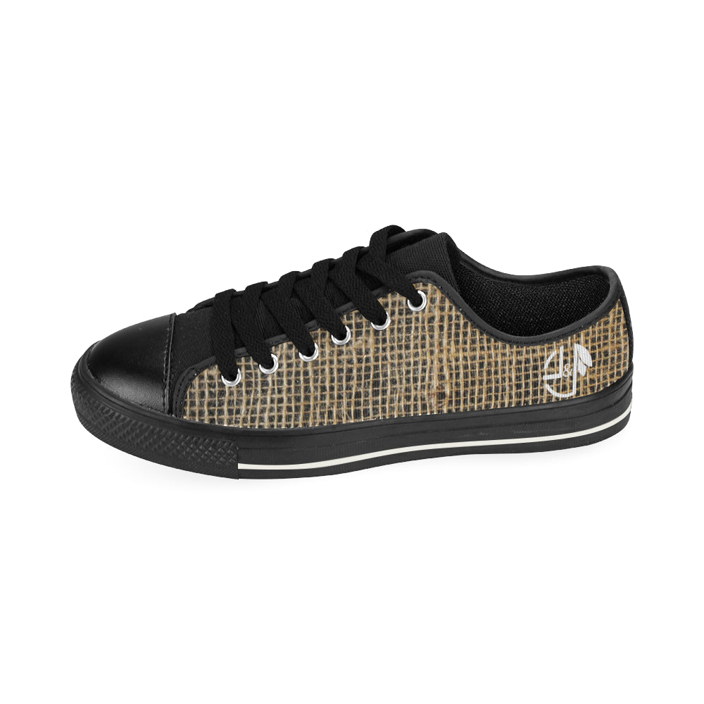 L&L Sneakers Man Low Hessian Men's Classic Canvas Shoes (Model 018) - L&L since 2007