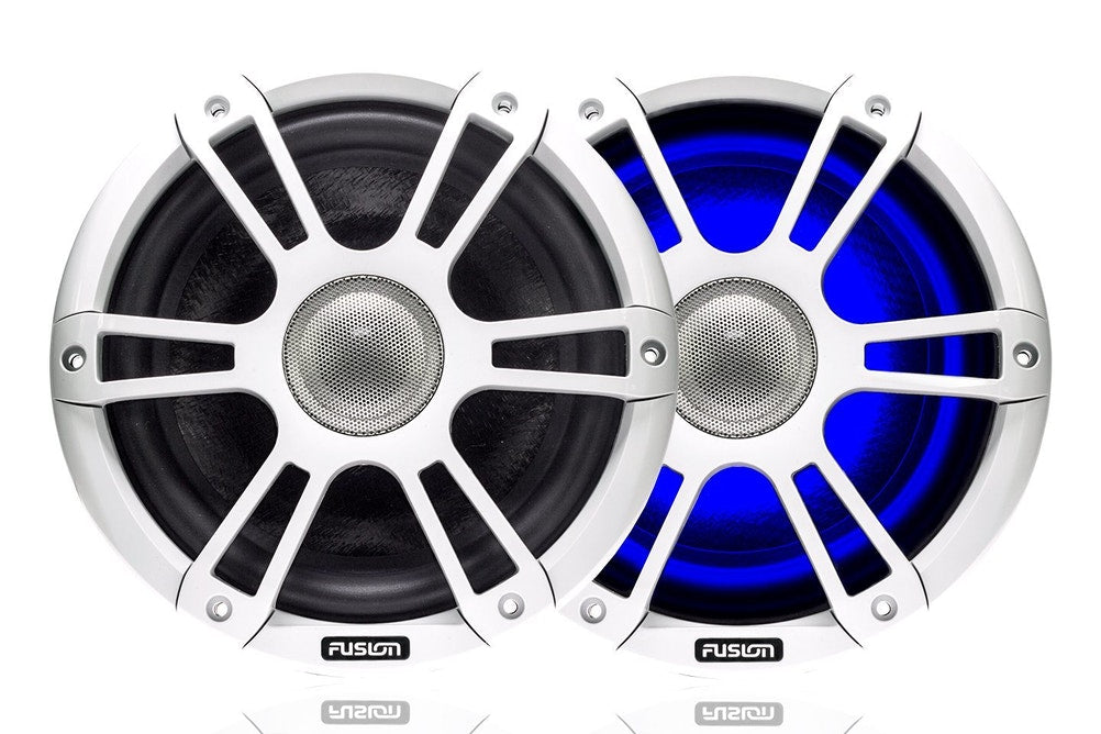 White Sports Marine Speakers - 8.8""