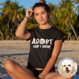 Your Pet on a ADOPT Tee T-shirt Bailey's Blanket