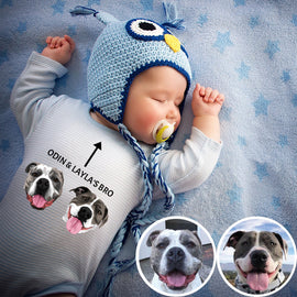 Your Pet on a Babysuit/Baby Onesie T-shirt Bailey's Blanket