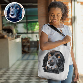 Your Pet on a Tote Bag Tote Bags Bailey's Blanket
