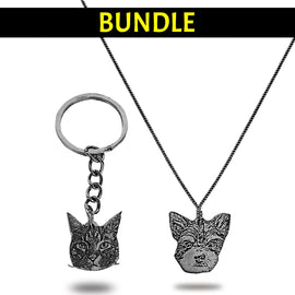 Your Pet as a Keychain and Necklace BUNDLE! Jewellery Bailey's Blanket