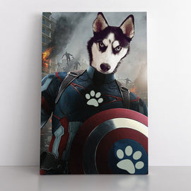 Your Pet as The Captain (Canvas) Canvas Bailey's Blanket