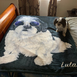 Your Pet on a Blanket Blankets Bailey's Blanket