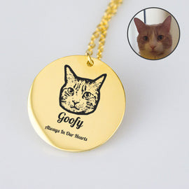 Your Pet on a Remembrance Necklace Jewellery Bailey's Blanket