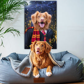 Your Pet as Paw-Ter Canvas Bailey's Blanket