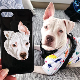 Your Pet on a Phone Case Phone Cases Bailey's Blanket