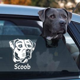 Your Pet as a Car Decal - Your Pet on ANY Vehicle Car Decal Bailey's Blanket