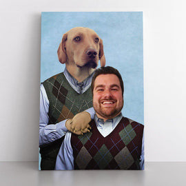 Your Pet & You as Stepbrothers (Canvas) Canvas Bailey's Blanket