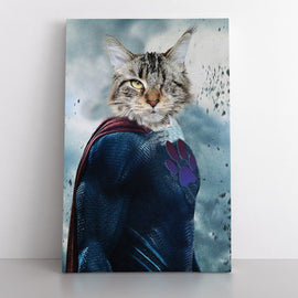 Your Pet as SuperPaw (Canvas) Canvas Bailey's Blanket