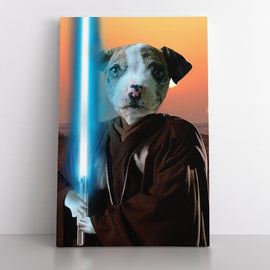 Your Pet as The Leader (Canvas) Canvas Bailey's Blanket