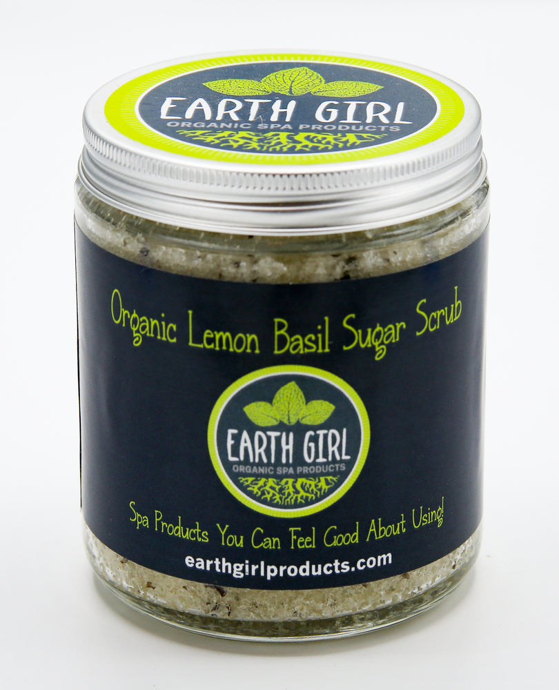 Organic Lemon Basil Sugar Scrub --- Brighten Skin and Restore Your Radiance