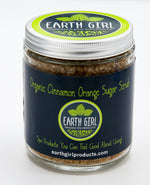 Organic Cinnamon Orange Sugar Scrub --- Fall in a Jar!