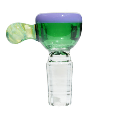 iDab Glass Bubble Handle Worked 14mm Bowl Slide