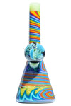 Mauka Glass Rainbow WigWag w/Jelly Fish Marble