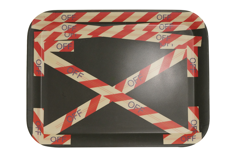 Off White Bamboo Tray