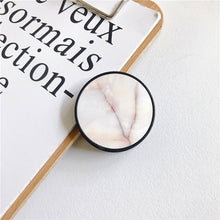 Load image into Gallery viewer, Glossy Popular Marble Expanding Phone Stand Grip Finger Rring Support Anti-Fall Round Foldable Mobile Phone Holder for iPhone 11