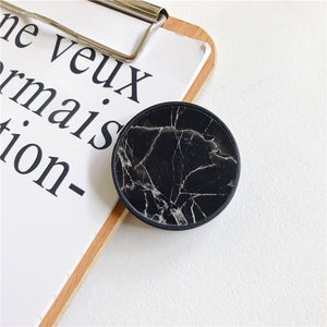 Glossy Popular Marble Expanding Phone Stand Grip Finger Rring Support Anti-Fall Round Foldable Mobile Phone Holder for iPhone 11