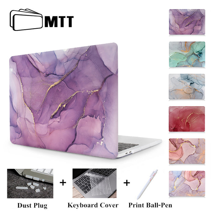 MTT Laptop Case For Apple Macbook Air Pro Retina 11 12 13 15 Marble Hard Cover for mac book 13.3 inch With Touch Bar a1706 a1502