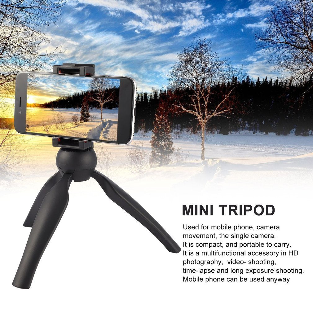 Mobile Phone Live Holder Desktop Mini Tripod Selfie Stick Floor Stand Portable Anchor Video Small Angle Frame