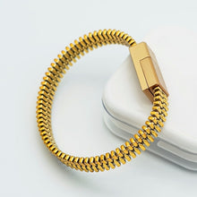 Load image into Gallery viewer, Portable Outdoor Mini Micro USB Bracelet Charger Data Cable For iPhone X XS Max XR Android Type-C Phone Charging Sync Cord Cable