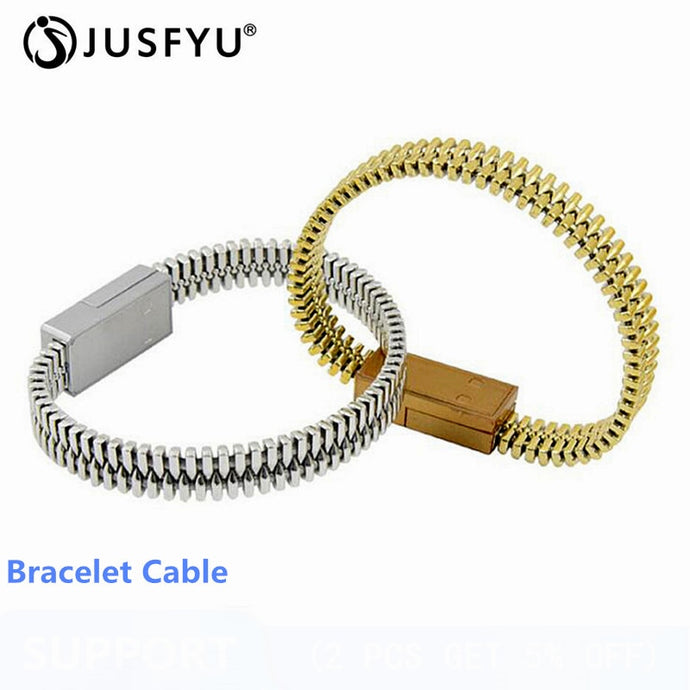 Portable Outdoor Mini Micro USB Bracelet Charger Data Cable For iPhone X XS Max XR Android Type-C Phone Charging Sync Cord Cable
