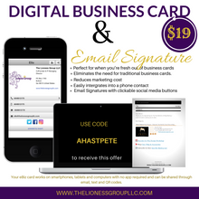 Load image into Gallery viewer, Digital Business Card & Basic Email Signature Bundle