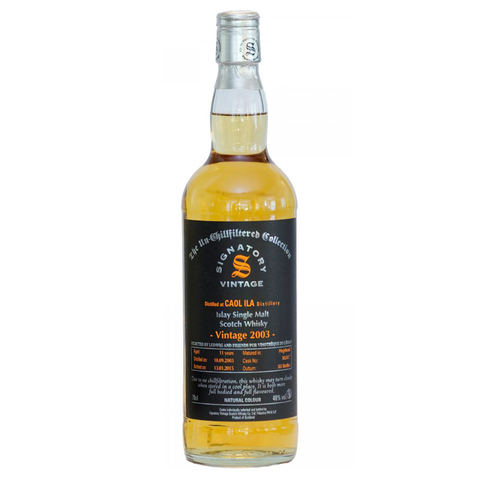 Whisky Signatory Vintage The Un-Chillfiltered Collection Caol Ila 11 ans 2003
