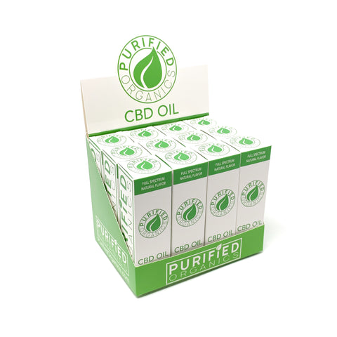 12 Count Box, 30 mL 500 mg Full Spectrum CBD Oil