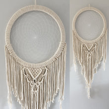Load image into Gallery viewer, Lovely natural macrame dream catcher
