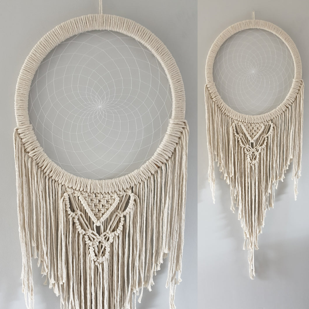 Lovely natural macrame dream catcher
