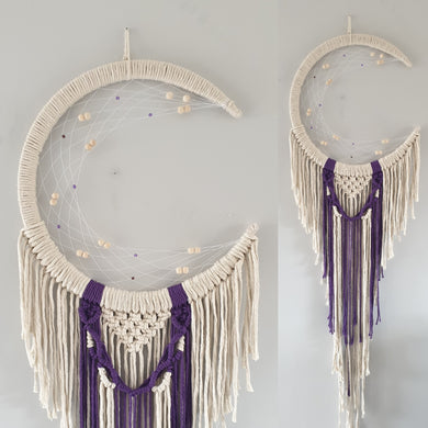 Pretty mooncatcher with purple string