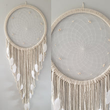 Load image into Gallery viewer, Stunning natural dreamcatcher with pretty bead and feather details